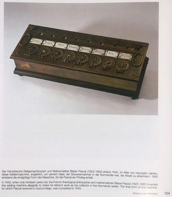 En 1942 el francés Blaise Pascal inventó  una sumadora que se conoce actualmente con el nombre de Pascalina