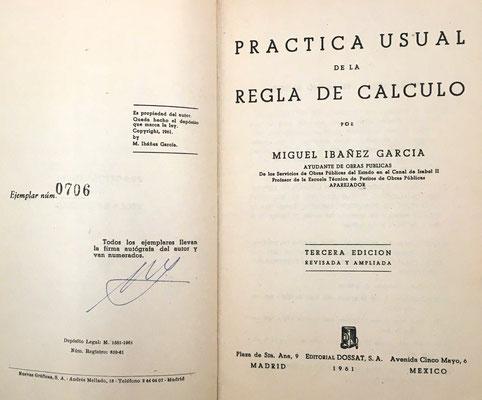 El libro, con 163 páginas y 9 láminas, está pensado para usuarios no especialistas de la regla de cálculo