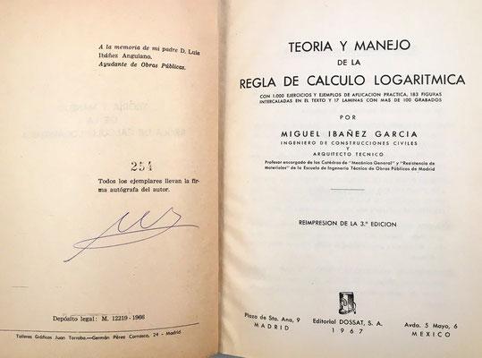 El libro, con 488 páginas y 17 láminas, está pensado para usuarios especialistas de la regla de cálculo