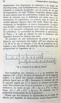 La regla de cálculo como herramienta para la multiplicación y división, basada en escalas logarítmicas