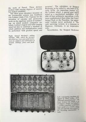 Aparecen también las máquinas de Morland (para moneda inglesa) y Grillet (con cilindros neperianos)