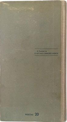 El libro se vendía en Madrid al precio de 20 pesetas (Afrodisio Aguado S.A.)