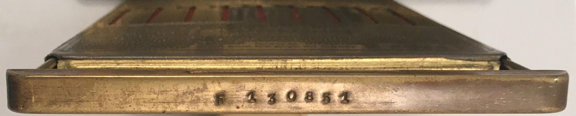 Ábaco de ranuras ADDIATOR, detalle de su s/n F-13085