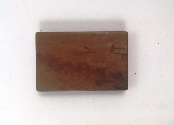 Reverso del mini ábaco chino de madera de nogal