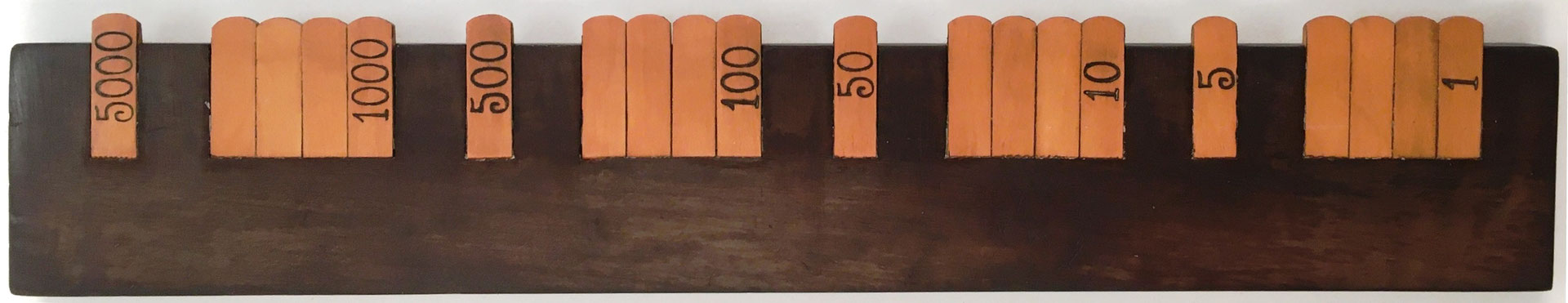 Anotador de puntuación recto para el juego de cartas BEZIQUE, 27.5X5 cm