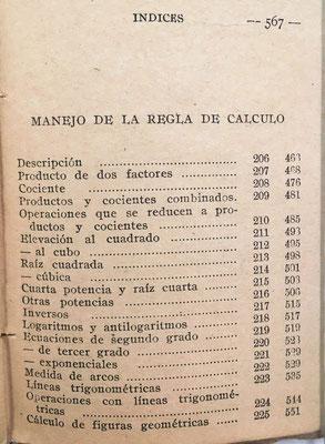 Esta 2ª edición, además de Aritmética, Geometría, Álgebra y Trigonometría de la 1ª, añade un quinto capítulo sobre La Regla de Cálculo
