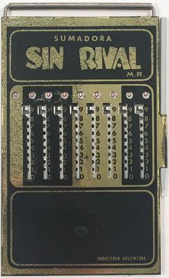 Ábaco de ranuras SIN RIVAL M. R., hacia 1930, 9x15 cm