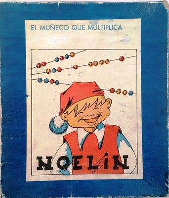Tapa de la caja de NOELIN: multiplica, divide, cuadrados, raíz cuadrada