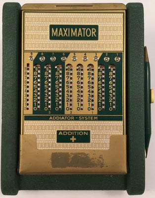 Ábaco de ranuras MAXIMATOR SYSTEM, s/n 226207, addition, versión para España, año 1950, 14x19x9 cm