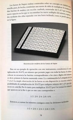 Estudia el ábaco de Napier, que reduce la multiplicación a sumas y facilita la división