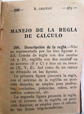 El capítulo sobre el manejo de la regla de cálculo tiene 108 páginas (de la página 463 a la 579, ambas incluidas)