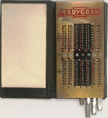 Ábaco de ranuras MARYGRAN, similar a Produx de Otto Meuter, fabricado y distribuida en USA, 5.7x11.5 cm