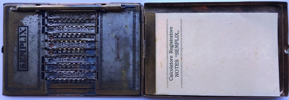 Vista completa de ábaco de ranuras  SEMPLIX modelo 3