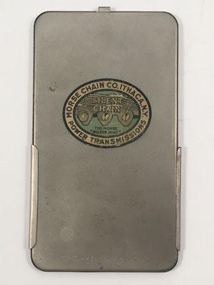 Reverso de GRAY Pocket Arithmometer