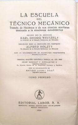 Tratado de Mecánica y de sus Ciencias Auxiliares destinado a la enseñanza autodidáctica, tomo I