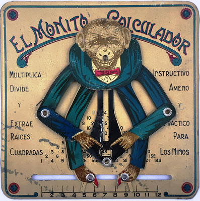 "EL MONITO CALCULADOR, versión argentina de ""CONSUL The Educated Monkey"", año 1980, 16x18 cm"