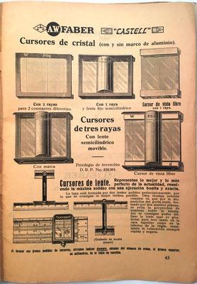 Página dedicada a presentar diferentes cursores para las reglas Faber-Castell