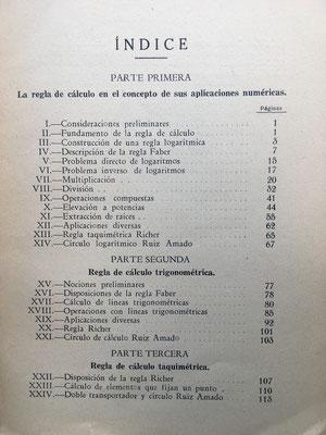 Indice y contenido  (la primera edición del libro se publicó en el año 1911)