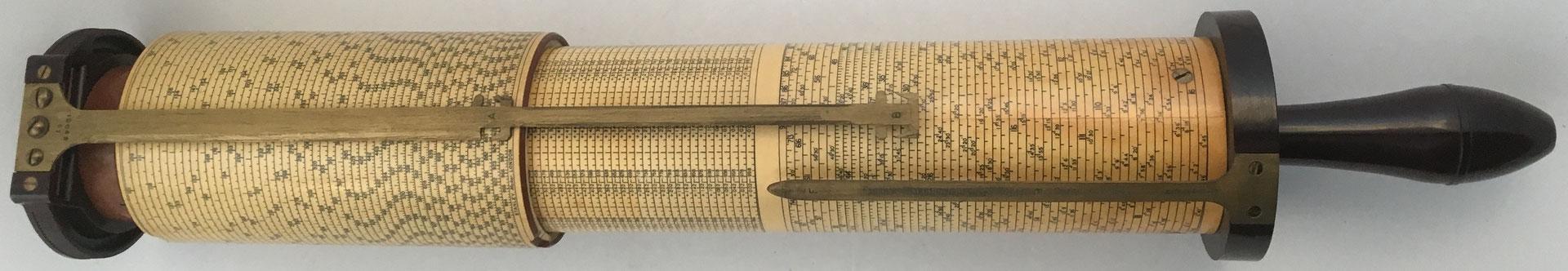 Regla cilíndrica FULLER tipo 2, fabricada por W. F. Stanley & Company, año 1957, s/n 12068, 9 cm diámetro