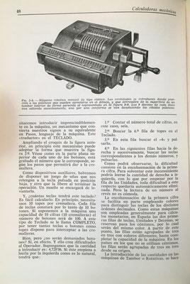 Analiza también  las calculadoras mecánicas e incorpora la imagen de una de la marca Minerva (Brunsviga)