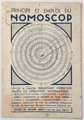 Folleto de instrucciones para el cercle a calcul NOMOSCOP