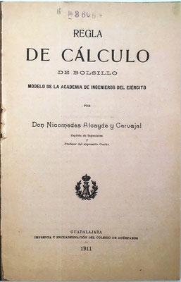 Primera página del libro de instrucciones, impreso en Guadalajara en el año 1911