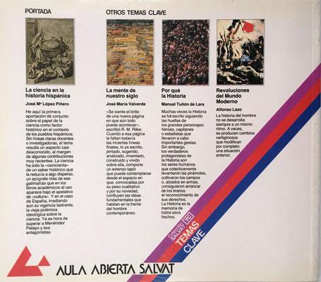 Contraportada del libro La Ciencia en la Historia Hispánica