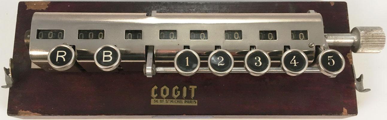 Hémoleucomètre COGIT, s/n 1858, contador de glóbulos usado en laboratorio, fabricado en París, 23x8x7 cm
