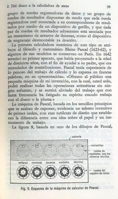 """La máquina de calcular de Blaise Pascal de 1942, para """"aliviar la fatiga originada por el cálculo realizado con el ábaco o la pluma"""""""