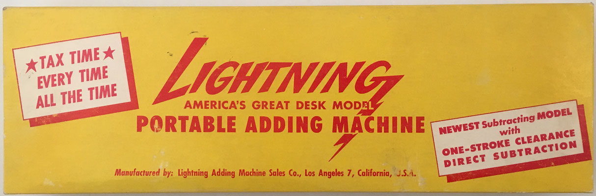 Caja de The LIGHTNING Adding Machine