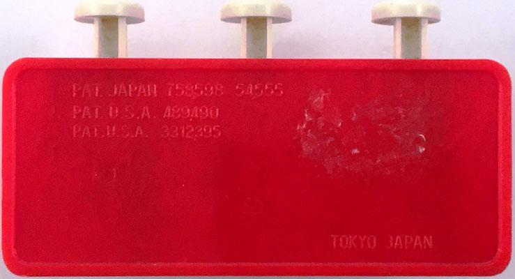 Reverso de la sumadora ADD-A-MATIC, fabricada en Tokyo (Japón)