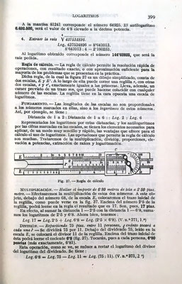 Ambos textos tienen prácticamente el mismo contenido que incluye un breve estudio de la regla de cálculo. La imagen corresponde a una A. W. Faber