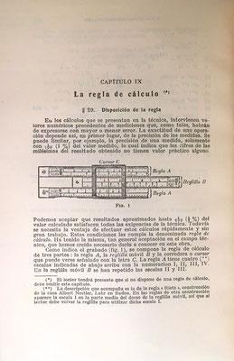 La regla de cálculo utilizada para la explicación del capítulo es una Albert Nestler