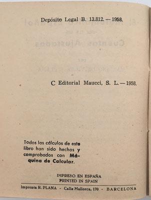 Los cálculos del libro EL MATEMÁTICO ESPAÑOL de Cuentas Ajustadas fueron hechos y comprobados con una calculadora mecánica de la marca ICE