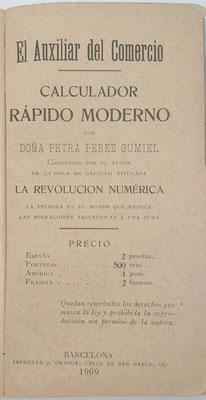 El libro está corregido por el autor de La Revolución Numérica D. Ramón Mas Tayeda