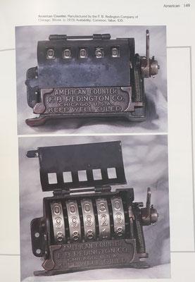 Aparato contador mecánico de la marca American Counter, año 1915