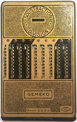 Reverso (color oro) del ábaco de ranuras GEMEKO Unis-France 2-193