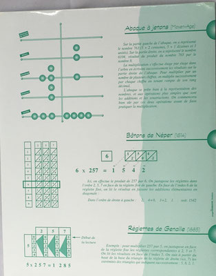 Kit Calculus: abaque á jetons, batons de Neper y reglettes de Genaille