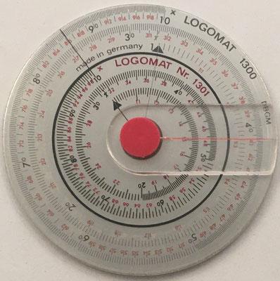 LOGOMAT  1300, hecha en Alemania, hacia 1971, 7 cm diámetro