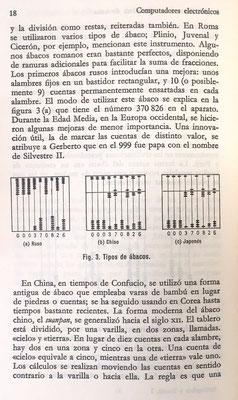 Ábaco ruso (decimal), chino (suanpan o souanpan) y japonés (soroban)