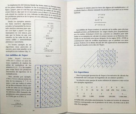 Páginas 10 y 11 del catálogo: ábaco neperiano