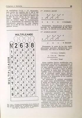 Los Bastoncitos Neperianos que reducen las multiplicaciones a sumas