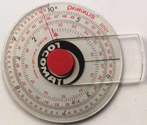 LOGOMAT-PfiffiiKUS 2001, hecha en Alemania, hacia 1971,  4,5 cm diámetro