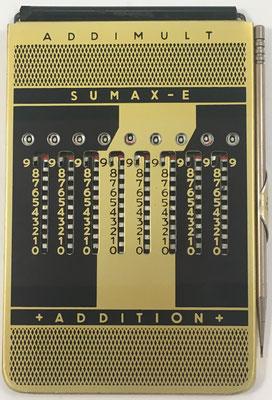 Ábaco de ranuras ADDIMULT SUMAX-E, anverso para suma y multiplicación