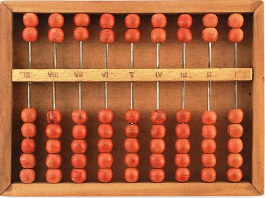 Ábaco CHINO (base 16 o hexadecimal) de Fu-Chau-Fa, 15x11 cm