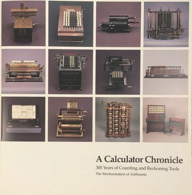 El catálogo recoge los instrumentos presentados en la exposición, fundamentalmente calculadoras mecánicas y reglas de cálculo, desde 1642 hasta 1942