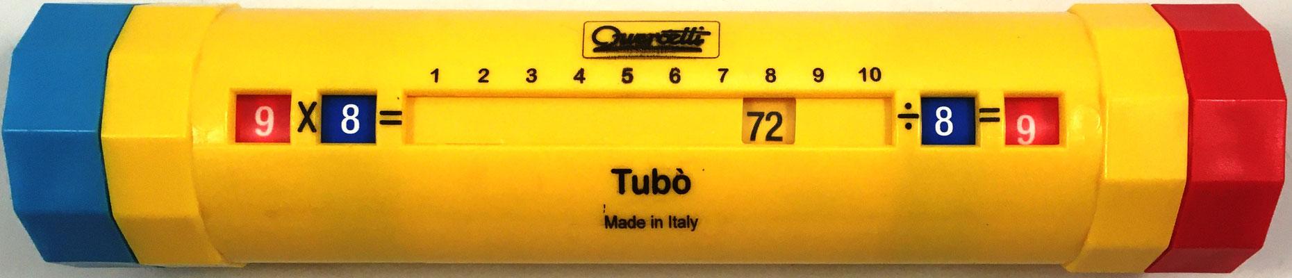 Cilindro multiplicador TUBÒ PITAGORICO, vista en forma producto y cociente