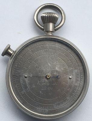 Cercle a calcul A. BOUCHER (Hâvre), hacia 1875, 5 cm de diámetro