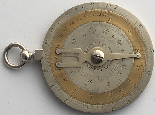 Calculimetre CHARPENTIER, año 1892, 6 cm diámetro