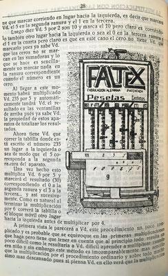 Analiza los ábacos de ranura e incorpora la imagen de uno de la marca alemana Faltex